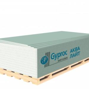 Гипсокартон GYPROC АКВА ЛАЙТ 2500*1200*9,5 мм